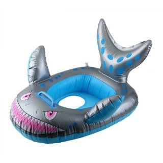 Baby Child Infant Kids Inflatable Swimming Pool Float Ring Seat Shark Shape Hs