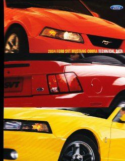 2004 Ford Mustang SVT Cobra Original Sales Brochure Sheet