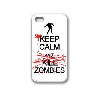 Keep Calm Kill Zombies iPhone 4 Case White   Fits iPhone 4 and iPhone 4S Cell Phones & Accessories