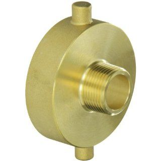 "Moon 369 2521061 Brass Fire Hose Adapter, Pin Lug, 2 1/2"" NH Female x 1"" NPT Male"