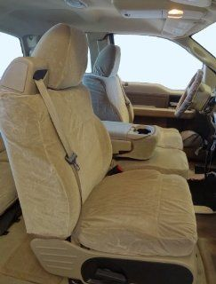 Exact Seat Covers, F369 V4, 2004 2008 Ford F150 XLT Front 40/20/40 Split Seat Custom Exact Fit Seat Covers, Taupe Velour Automotive