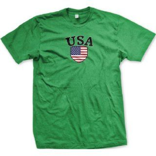 United States Of America Shield International Soccer T shirt, USA Soccer Mens T shirt Clothing