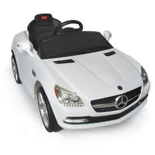 Mercedes Benz SLK Kids 6v Electric Ride On Toy Car w/ Parent Remote Control   White Toys & Games