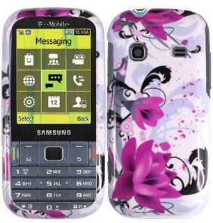 Purple Lily Hard Case Cover for Samsung Gravity TXT T379 Cell Phones & Accessories