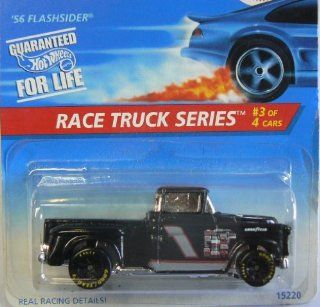 Hot Wheels Black 56 Flashsider Race Truck Series 3 of 4 382 1995 Toys & Games