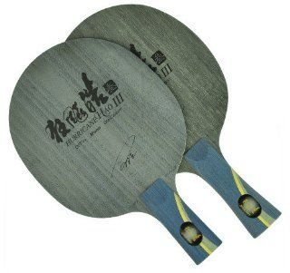 DHS Single Fiberglass Carbon Table Tennis Blade   Chinese Penhold Handle, Ping Pong Blade, Hurricane Hao 3  Sports & Outdoors