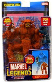 Marvel Legends Apocalypse Series Sasquatch with Rare Variant Black Apocalypse Build a Figure Piece Toys & Games
