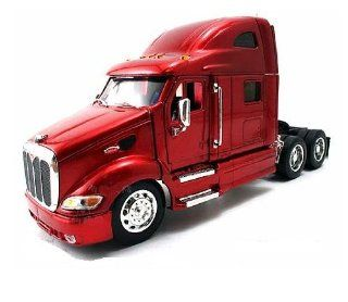 Jada Toys RoadRigz   Peterbilt 387 Model Tractor Trailer (132, Red) diecast car model Toys & Games