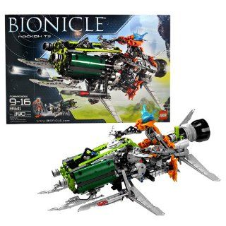 Lego Year 2008 Bionicle Series Action Figure Vehicle Set #8941   ROCKOH T3 with Exclusive Pohatu Nova Figure (7 Inch Tall) and Blaster (Total Pieces 390) Toys & Games