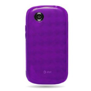 CoverON(TM) Flexi Gel Skin TPU Glove PURPLE with CHECKERED Design Soft Cover Case for ZTE Z990 AVAIL (AT&T)/990G MERIT [WCF391] Cell Phones & Accessories