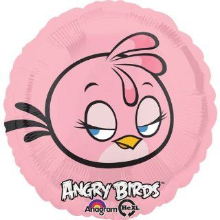 "Pink Bird Angry Birds Girl 17"" Foil Balloon Happy Birthday Party Decoration Toys & Games"