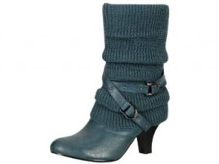Reneeze W TINA 1 Women Mid Calf Boots  Navy, Size 10 Shoes