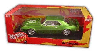 Hot Wheels Classics 118 scale green 68 Camaro 396 cid 1968 Toys & Games