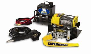 Superwinch 1331200 UT3000, 12 VDC winch, 3,000lb/1360 kg with mount plate, Roller Fairlead & 12' remote Automotive