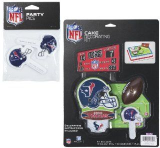 NFL Houston Texans Lay on Cake/Cupcake Decorations Sports & Outdoors