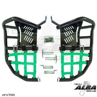 Kawasaki KFX 700 Propeg Nerf Bars Black / Green Automotive