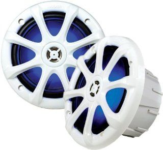 "Kicker 11KM6LW 6"" 2 Way KM Series Light Up Water Resistant Coaxial Marine & Boat Speakers w/ 1/2"" Dome Tweeters  Vehicle Speakers"