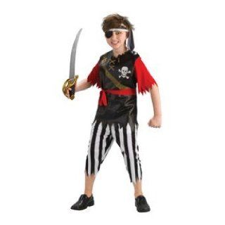 King Pirate Kids Buccaneer Boys Fancy Dress Up Halloween Party Costume Set L Clothing