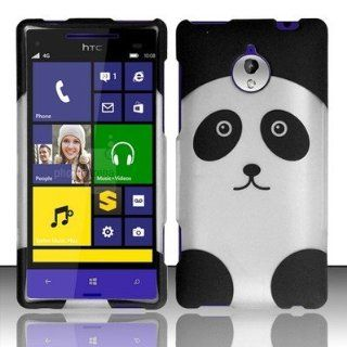 CUTE PANDA HARD PLASTIC COVER PHONE CASE FOR HTC 8XT SPRINT + SCREEN PROTECTOR [In Casesity Retail Packaging]