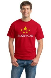 SUZHOU, CHINA Adult Unisex Vintage Look T shirt / Chinese City Pride Tee Clothing