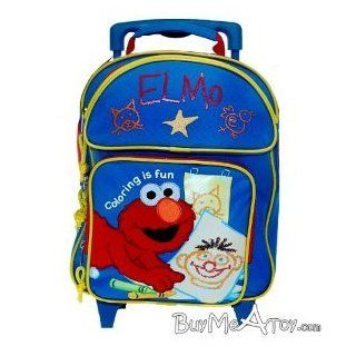 "Sesame Street Elmo Rolling Bacpack 12"" Toddler Size Bag Sports & Outdoors"
