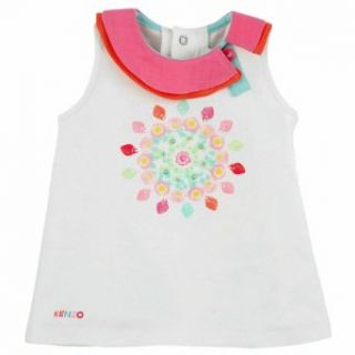 Kenzo Kids Baby Girl's Tank Top White 18m Clothing