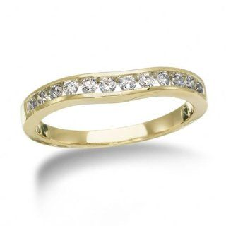 14K Yellow Gold and Diamond Ring Guard, 1/3 ctw. Jewelry