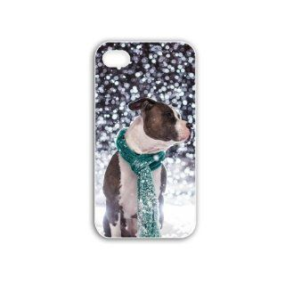 Animal Series DIY Carring Case Back cover Protective Case for iPhone 4/4S pit bull Design one Cell Phones & Accessories