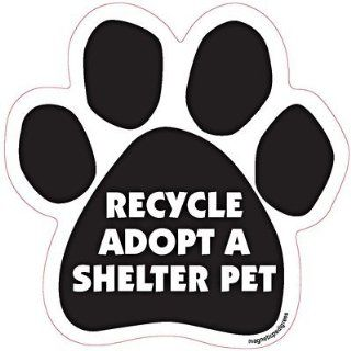 Recycle Adopt a Shelter Pet Dog Car, Fridge, Paw Shaped Magnet 5 Inches Dog Locker File Cabinet, Made in USA Car Candy  Refrigerator Magnets