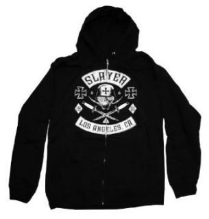 Slayer Tribe Soldier Los Angeles Metal Band Zip Up Adult Hoodie Hooded Sweatshirt Select Shirt Size Medium Clothing