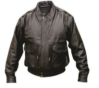 Allstate Leather Men's AL2702 Bomber jacket Medium Black Clothing