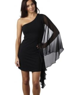 AX Paris Women's One Sleeve Black Dress Clothing