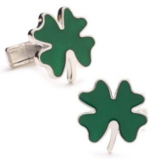 Four Leaf Clover Cufflinks Clothing