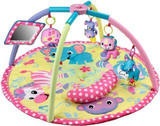 Infantino Baby Girl Animals Twist and Fold Activity Gym and Playmat Baby