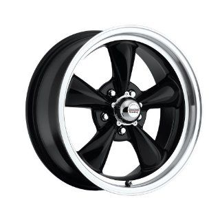 "15 inch 15x7"" 100 B Classic Series Black aluminum wheels rims licensed from American Racing 5x4.75"" Chevy lug pattern 0 offset 4.00"" backspacing (set of four wheels) Automotive"