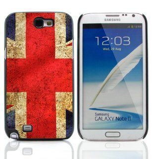 British Flag Hard Case Cover for Samsung Galaxy Note 2 N7100 Cell Phones & Accessories
