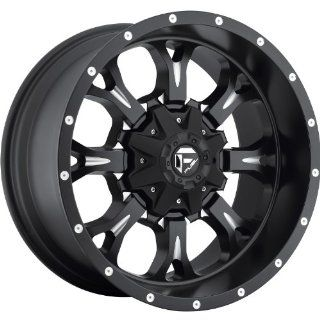 Fuel Krank 22 Black Wheel / Rim 5x5.0 & JEEPS with a  24mm Offset and a 72.6 Hub Bore. Partnumber D51722112650 Automotive
