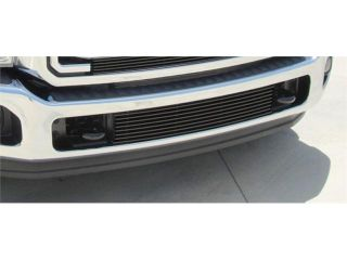 T REX 2011 2012 Ford Super Duty Bumper Billet Grille Insert   Between Tow Hooks   All Black Powdercoat BLACK 25546B