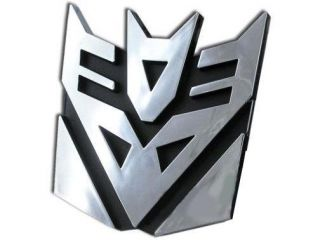 Transformers Decepticons Logo 3D Car Hood Ornament / Decal