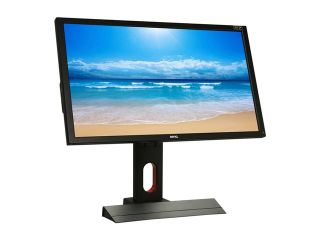 "BenQ XL2420T Black Red 24"" 5ms (2ms GTG) HDMI Widescreen LED Backlight Height & Pivot Adjustable 120Hz 3D Ready LCD Monitor 350 cd/m2 DC 12M:1 (1000:1)"