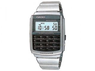 Casio Men's CA506 1 Stainless Steel Quartz Watch with Black Dial