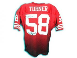 Keena Turner Signed San Francisco 49ers Red Throwback Jersey   4x SB Champs