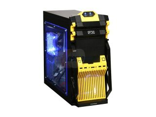 Broadway Com Corp FX Series FX YELLOW Black / Yellow SECC Steel Computer Case