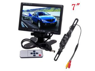 "7""  inch TFT Adjustable LCD Backlight Color Screen Rear View Monitor for Car w/ 170° CAR Night Vision Reserve Backup Camera"