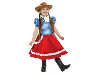 PMG Toddler Girls American Cowgirl Costume With Dress Scarf & Cowboy Hat