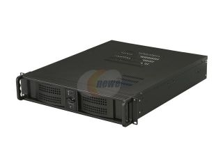"Athena Power RM 2U2015SV55 Black 2U Rackmount Server Case With Ver. 2.91 EPS 12V 550W Dual Fan Server Power Supply 1 External 5.25"" Drive Bays"