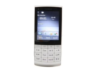 Nokia Touch and Type X3 02 White 3G Unlocked GSM Touch Screen Phone w/ 5MP Camera / Wi Fi (X3 02)