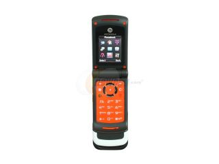 Motorola MOTOACTV Grey/Orange Unlocked GSM Flip Phone with 1.3 MP Camera (W450)