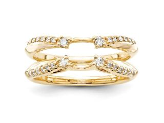 14k Yellow Gold Diamond Ring Guard Diamond quality AA (I1 clarity, G I color)