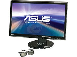 "ASUS VG Series VG23AH Black 23"" 5ms HDMI Widescreen 3D LED Monitor 250 cd/m2 ASCR 80,000,000:1, IPS Panel, Height & Swivel Adjustable with Speaker and 3D Glasses"